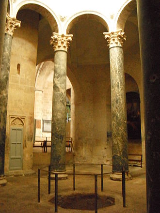 Pre-Romanesque art and architecture - Baptistery of Aix Cathedral 500 AD built by the Merovingians