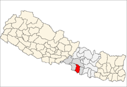 map of Bara, Nepal