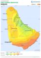 Barbados DNI Solar-resource-map GlobalSolarAtlas World-Bank-Esmap-Solargis.png
