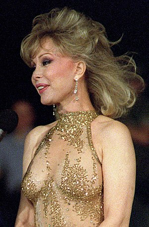 Barbara Eden - Eden in 1987 (age 56) at a United Services Organization show aboard the amphibious assault ship USS Okinawa.