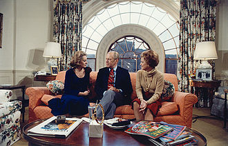 Barbara Walters - Walters interviewing President Gerald Ford and Betty Ford in 1976.