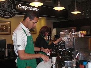 Underemployment - Image: Baristas first starbucks