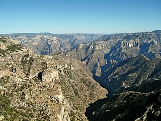 Copper Canyon mountain range in Mexico