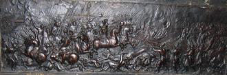 Battle of Berestechko - Battle of Beresteczko 1651, relief at Abbaye de Saint-Germain-des-Prés in Paris.