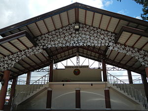 "Bay, Laguna - ""Tanghalang Bayeños"" at the left side of the town's Municipal Hall. This is where they held town's festival and events."
