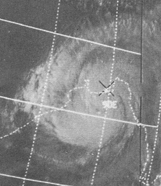 The Bhola cyclone prior to landfall on November 12