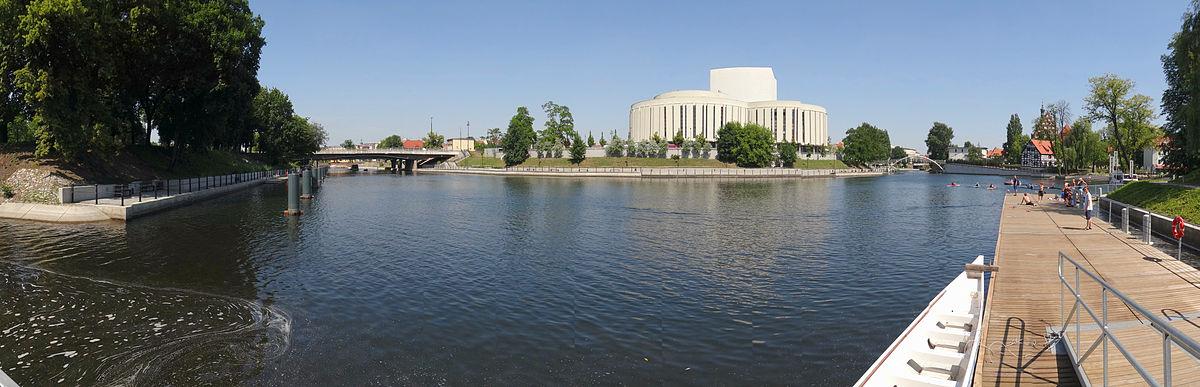 Widok z tarasu przystani Bydgoszcz