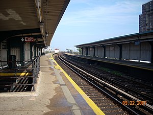 Beach 60th Street (IND Rockaway Line) - Platforms before 2010 renovation