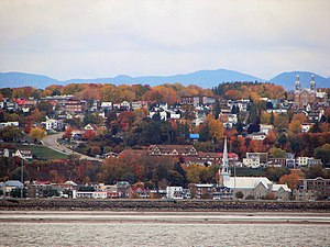 Beauport, Quebec City - Beauport as seen from Île d'Orléans