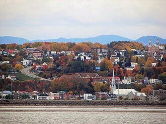 Beauport, Quebec City - Beauport as seen from Île d'Orléans