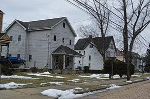 Glenfield, Pennsylvania - Houses on East Beaver Street