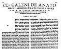 "Beginning of ""Anatomicis administrationibus"", Vesalius, 1542 Wellcome L0013937.jpg"