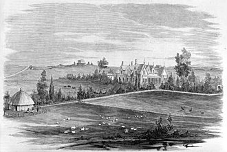 Bell Park, Victoria - Bell Park in 1863, near the homestead of Captain John Bell