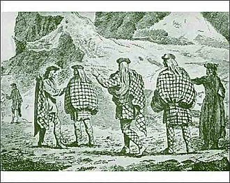 Belted plaid - Belted plaids in the Scottish Highlands, 1730s