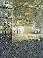 Benchmark on gatepost at Preston Road entrance to Yeovil Cemetery - geograph.org.uk - 2287155.jpg