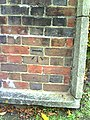 Benchmark on wall at entrance to Grange School - geograph.org.uk - 2144308.jpg