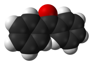Benzophenone - Image: Benzophenone 3D vd W