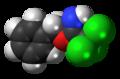 Benzyl-2,2,2-trichloroacetimidate molecule spacefill.png