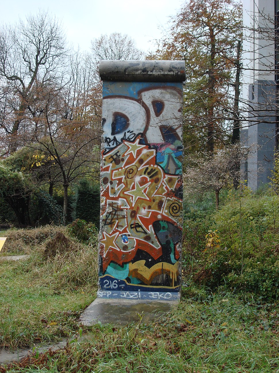 Berlin Wall outside European parliament