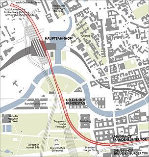 U55 (Berlin U-Bahn) Rapid transit line in Berlin, Germany