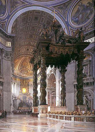 St. Peter's Baldachin - Image: Bernini Baldachino