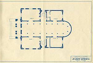 University of Michigan Museum of Art - Alumni Memorial Hall, first floor blueprint
