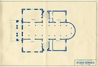 University of Michigan Museum of Art - Alumni Memorial Hall, first floor blueprint