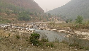 Koshi River - Bhote Koshi in Nepal during the dry season. It is one of the tributaries of Koshi river.