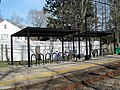 Bicycle sheds at Eliot station, March 2016.JPG