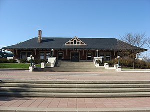 "Lafayette station (Indiana) - Lafayette's historic Amtrak station was originally a ""Big Four"" Depot"