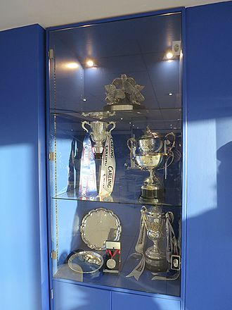 Birmingham City F.C. - Trophy cabinet with the Carling Cup trophy