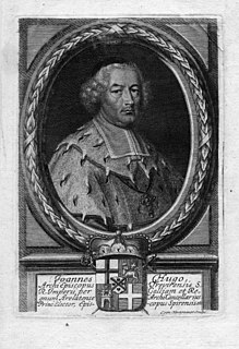 Johann Hugo von Orsbeck Archbishop-Elector of Trier from 1675 to 1711