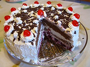 Prawn cocktail, steak and Black Forest gateau - Black Forest gâteau