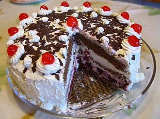Chocolate cake - A four-layer Black Forest gateau