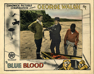 Spencer Bell (actor) - Lobby card for Blue Blood (1925)