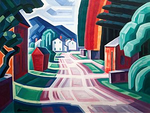 Oscar Florianus Bluemner - Form and Light, Motif in West New Jersey (1914)