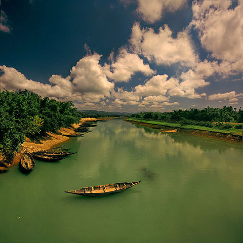 File boat in river wikipedia - Bangladesh nature wallpaper hd ...