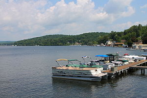 Harveys Lake (Pennsylvania) - Boats on Harveys Lake