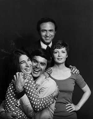 Anita Gillette - From TV series Bob & Carol & Ted & Alice (1973). Back: David Spielberg; front, L-R: Anne Archer, Robert Urich, Anita Gillette