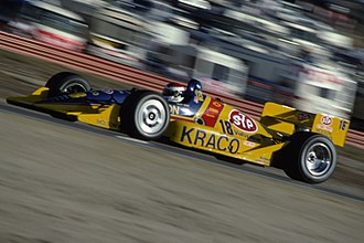 Galles Racing - Bobby Rahal driving the Galles-Kraco car at Laguna Seca Raceway in 1991