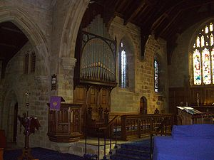 St Mary's Church, Bolsterstone - The interior.