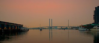 Bolte Bridge - The Bolte Bridge from the Melbourne Docklands.