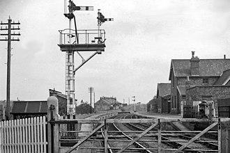 Boosbeck - Boosbeck's former railway station in 1961