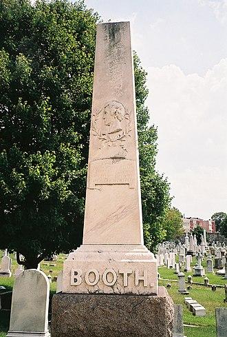 Junius Brutus Booth - Image: Booth family gravesite