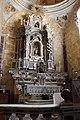 Bosa chiesa del carmine, int., altare maggiore rococò in amrmi policromi.JPG