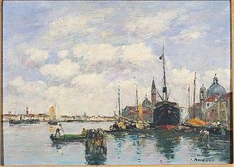 Eugène Boudin - Venice-Seascape at the Giudecca (1895), Princeton University Art Museum