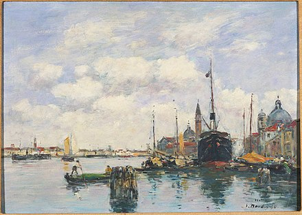 Venice-Seascape at the Giudecca (1895), Princeton University Art Museum Boudin, Eugene, Venice-Seascape at the Giudecca, 1895.jpg