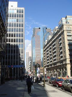De Maisonneuve Boulevard thoroughfare in Montreal, Canada