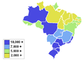 Brazilian States by GDP per capita.PNG