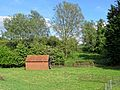 Brick building at Matching Pond in Matching, Essex, England 01.jpg